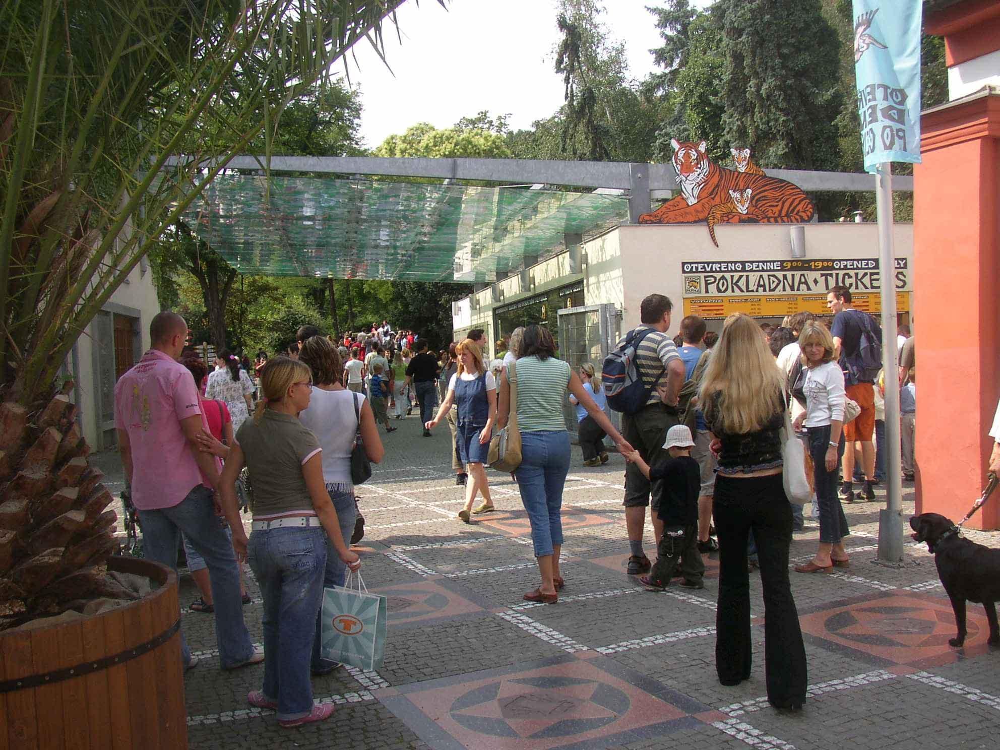 Main entrance of the Prague Zoo